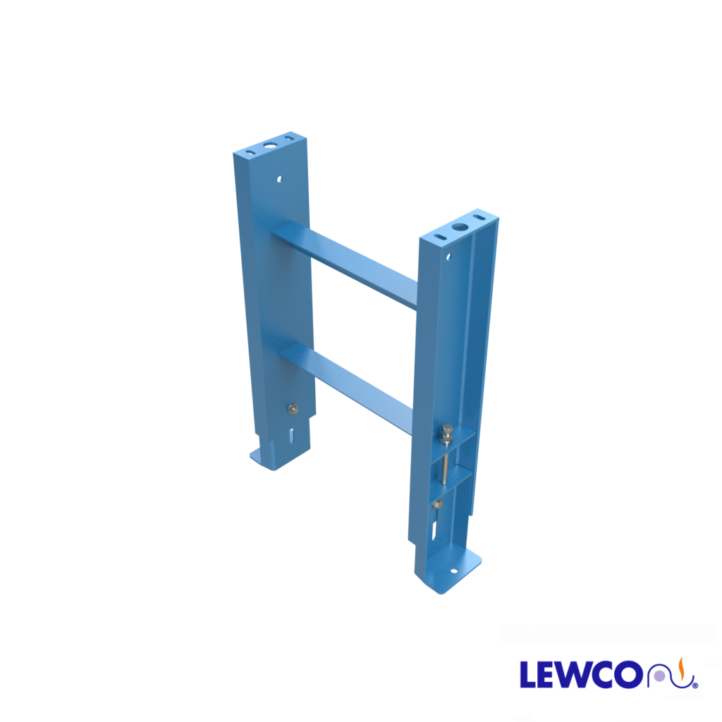 SPSJ6 model heavy duty, structural steel, stationary jack bolt style floor supports are easily adjusted and anchored. These supports feature a fixed top pivot plate for applications requiring the movement of heavy loads.