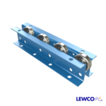 Wheel Rail Conveyors provide an economical means of conveying products in flow racks and other gravity applications. WRA can be utilized as a medium duty pallet rail. The opposing channels offer a sturdy configuration to cover longer spans.