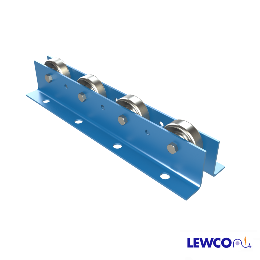 Wheel Rail Conveyors provide an economical means of conveying products in flow racks and other gravity applications. WRF is a heavy duty rail that can be utilized as a tote, box, or carton rail. The angle frames are also ideal for floor mounted applications, while opposing angles offer a sturdy configuration to cover longer spans.